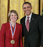 Photo of Penny Chisholm and President Obama
