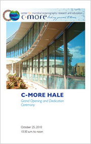 C-MORE Hale dedication program cover image