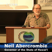 video still of Gov. Neil Abercrombie