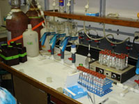 Photo of shipboard lab.