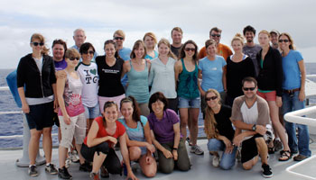 Photo of 2012 participants on board the R/V Kilo Moana.